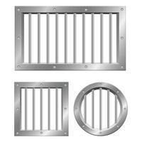 Gefängnisfenster auf weiß vektor