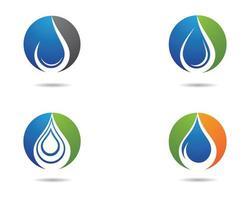 vattendroppe Ikonuppsättning vektor