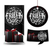 svart fredag försäljning svart fyrkantig samling