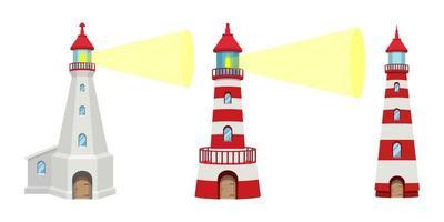 Leuchtturmgebäude isoliert vektor