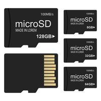 Micro SD-Karte isoliert vektor