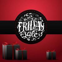 schwarzer Freitag Verkauf rotes Quadrat