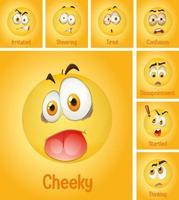 uppsättning olika ansikten