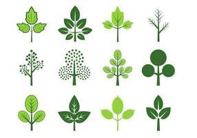 Blätter von drei Vektor Pack