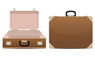 geschlossene und geöffnete Koffer isoliert