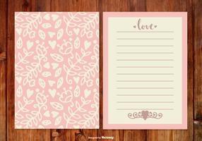 Netter rosa Hochzeitsplaner vektor