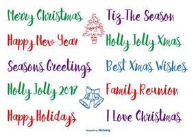 Handgezeichnete Weihnachtsbeschriftung vektor