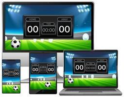 uppsättning fotbollsmatch