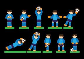 Goal Keeper Action Vektor-Illustration vektor