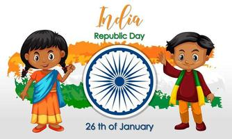 Indien semester med glada barn