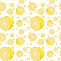 sömlös bakgrund gula citroner vektor