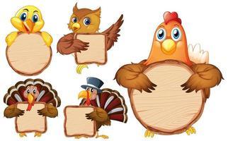 leere Zeichenvorlage mit vielen Vögeln