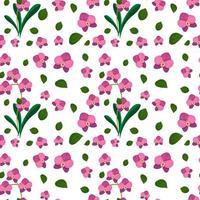 nahtloses Muster mit niedlichen rosa Blumen