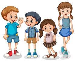 grupp små barn