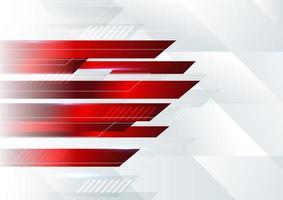 abstrakt vinklad geometrisk form vit och röd design vektor