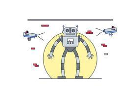 Freier Roboter-Vektor vektor