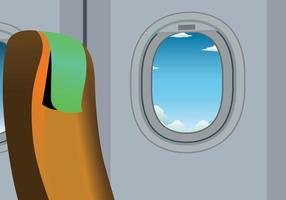 Freie flache Fenster Illustration