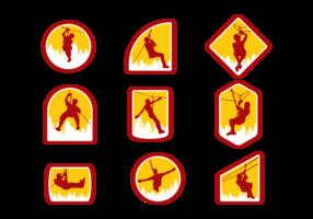 Zipline Vektor-Illustration