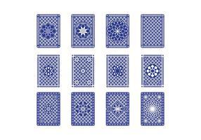 Gratis Playing Card Back Vector