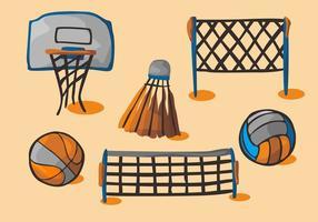 Netball Vektor Set
