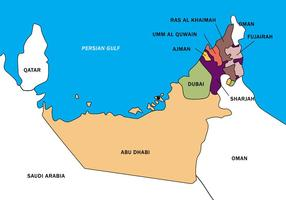 UAE Karte Vektorgrenze