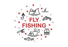Fly Fshing Ikonvektorer
