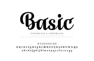 klassiska skript eleganta alfabetet bokstäver