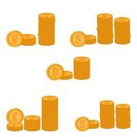 Goldmünzenset vektor