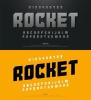 moderne kühne Sportalphabetschrift und Typografie