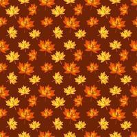 Herbstahorn hinterlässt nahtlosen Musterhintergrund vektor