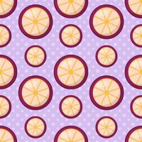 mangostan frukt sömlös bakgrund
