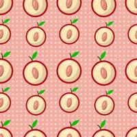 plommon frukt sömlös bakgrund vektor
