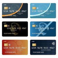 Satz von Kreditkarten