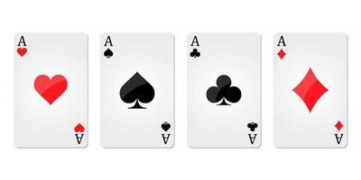 Ass-Karten in einer Reihe vektor