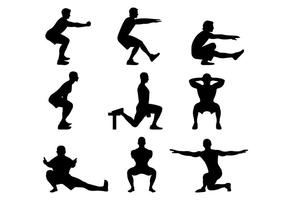 Silhuett av grundläggande squat