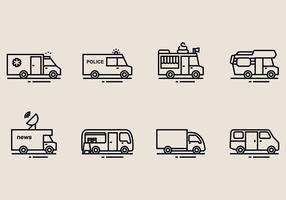 Kleinbus-Ikonen vektor