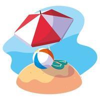 sommar och semester ikonuppsättning