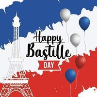 bastille semester gratulationskort vektor