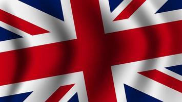 realistische Flagge des Vereinigten Königreichs weht