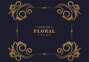 dekorative Ecke dekorativer goldener Rahmen vektor