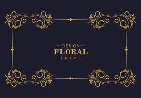 schöner dekorativer symmetrischer goldener Rahmen vektor
