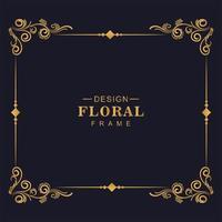 dekorativer künstlerischer floraler Eckrahmen vektor