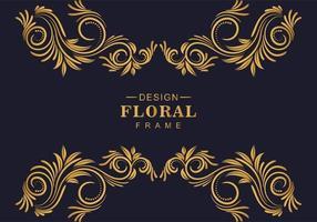 dekorativa blommiga dekorativa gränser vektor