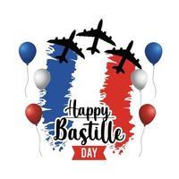 Bastille Tag, Feiertagsgrußkarte oder Banner