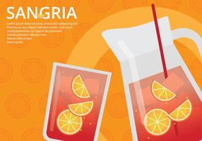 Sangria-Ereignis-Plakat-Schablone vektor