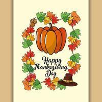 gratulationskort för tacksägelsedagen