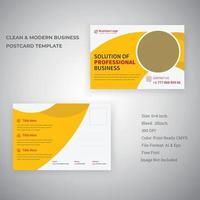 minimales industrielles Postkartenschablonendesign des Unternehmens