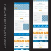 städtjänst e-post mall sida design vektor