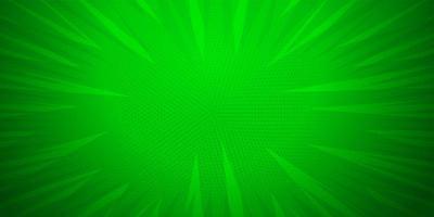 grüne Farbe, Comic-Pop-Art-Streifen radialer Hintergrund