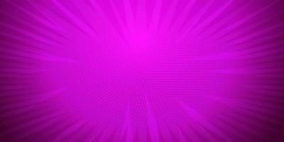 lila Farbe, Comic-Pop-Art-Streifen radialer Hintergrund